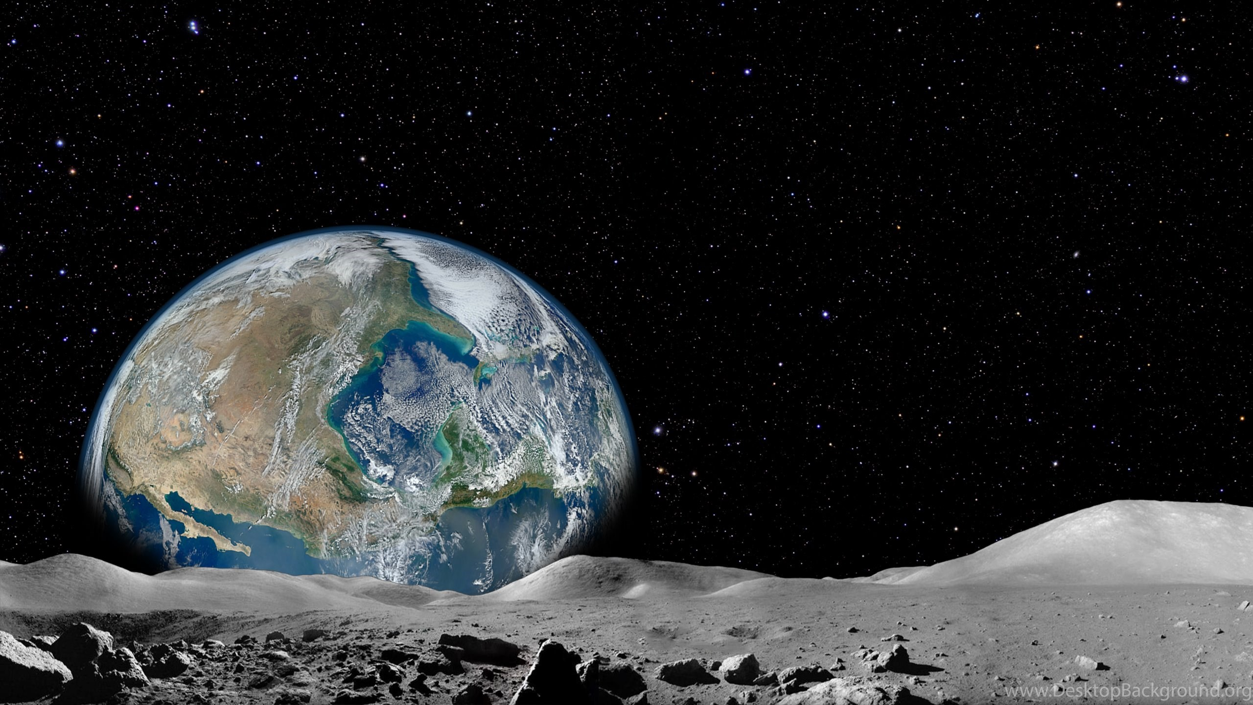 earth from the moon - 1280×720