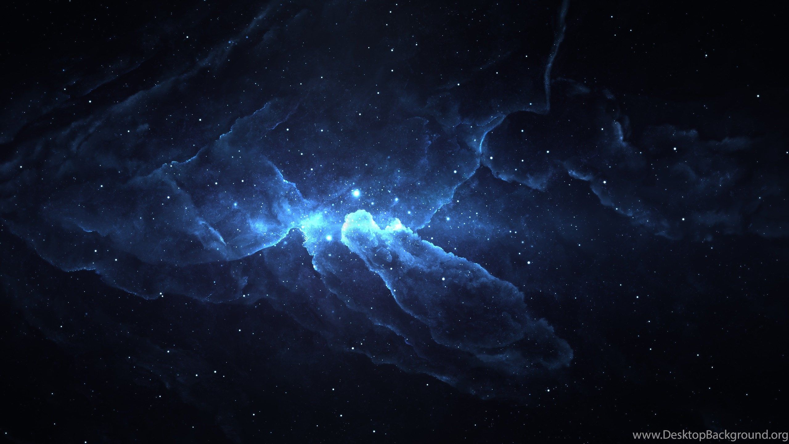 Blue Nebula Photoshop 4K Ultra HD Desktop Wallpapers