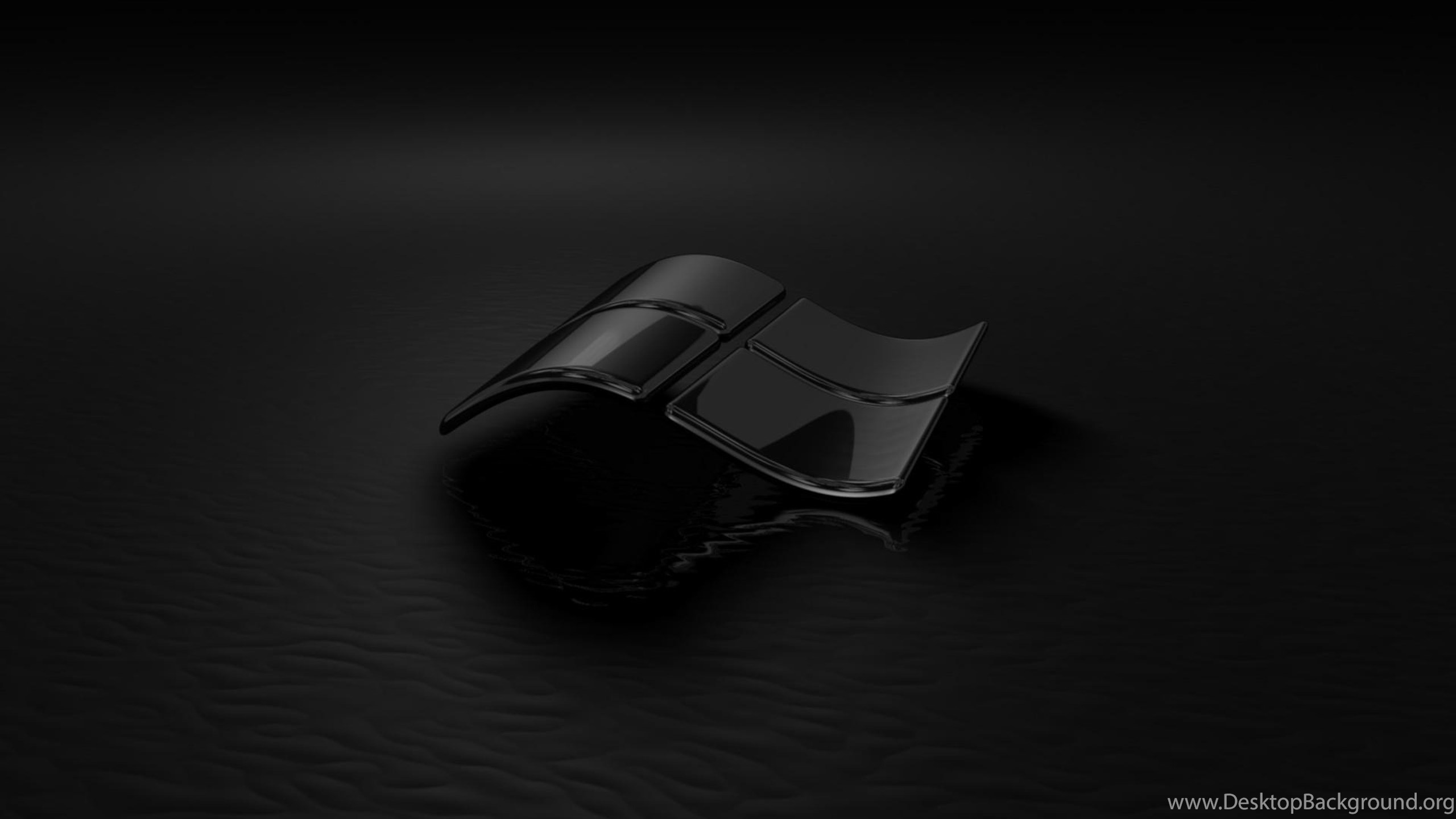download wallpapers 3840x2160 windows 7, black, glass, reflection