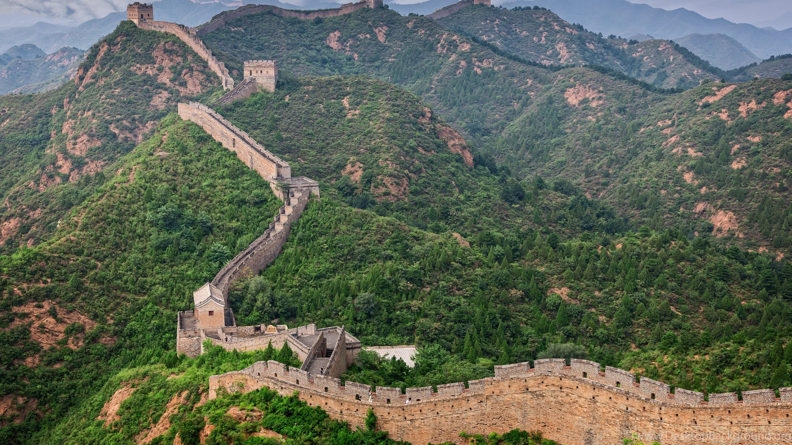 great wall of china forest mountains wallpapers desktop background