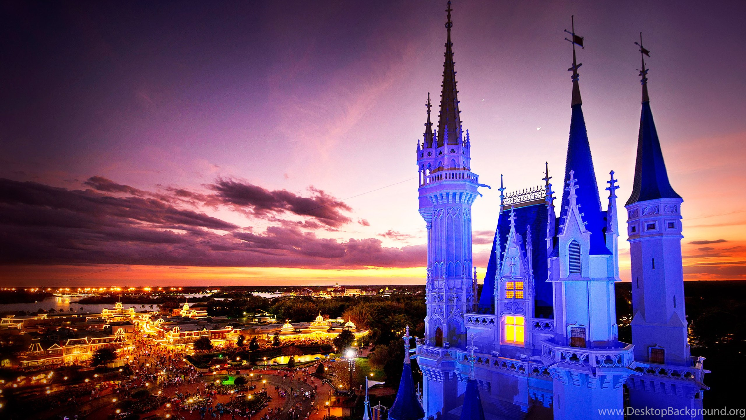 Image Wallpapers Of Cinderella Castle At Night From The Disney