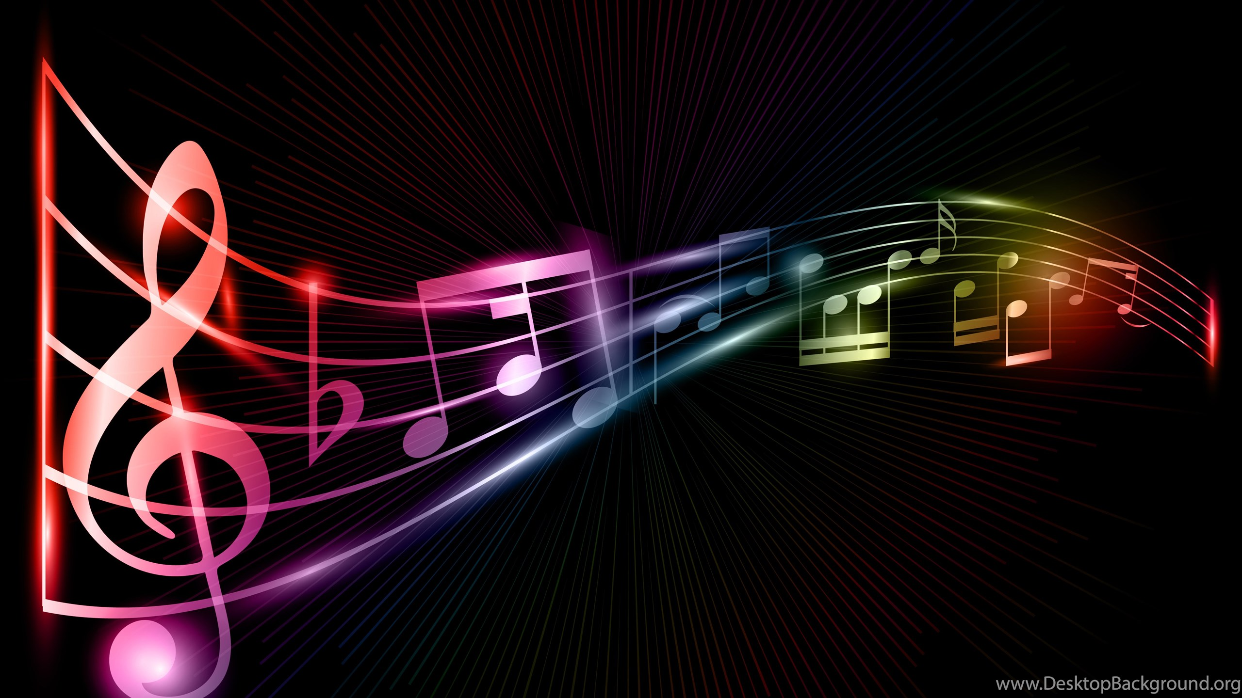 Music Background Images: Cool Rainbow Music Backgrounds Desktop Background