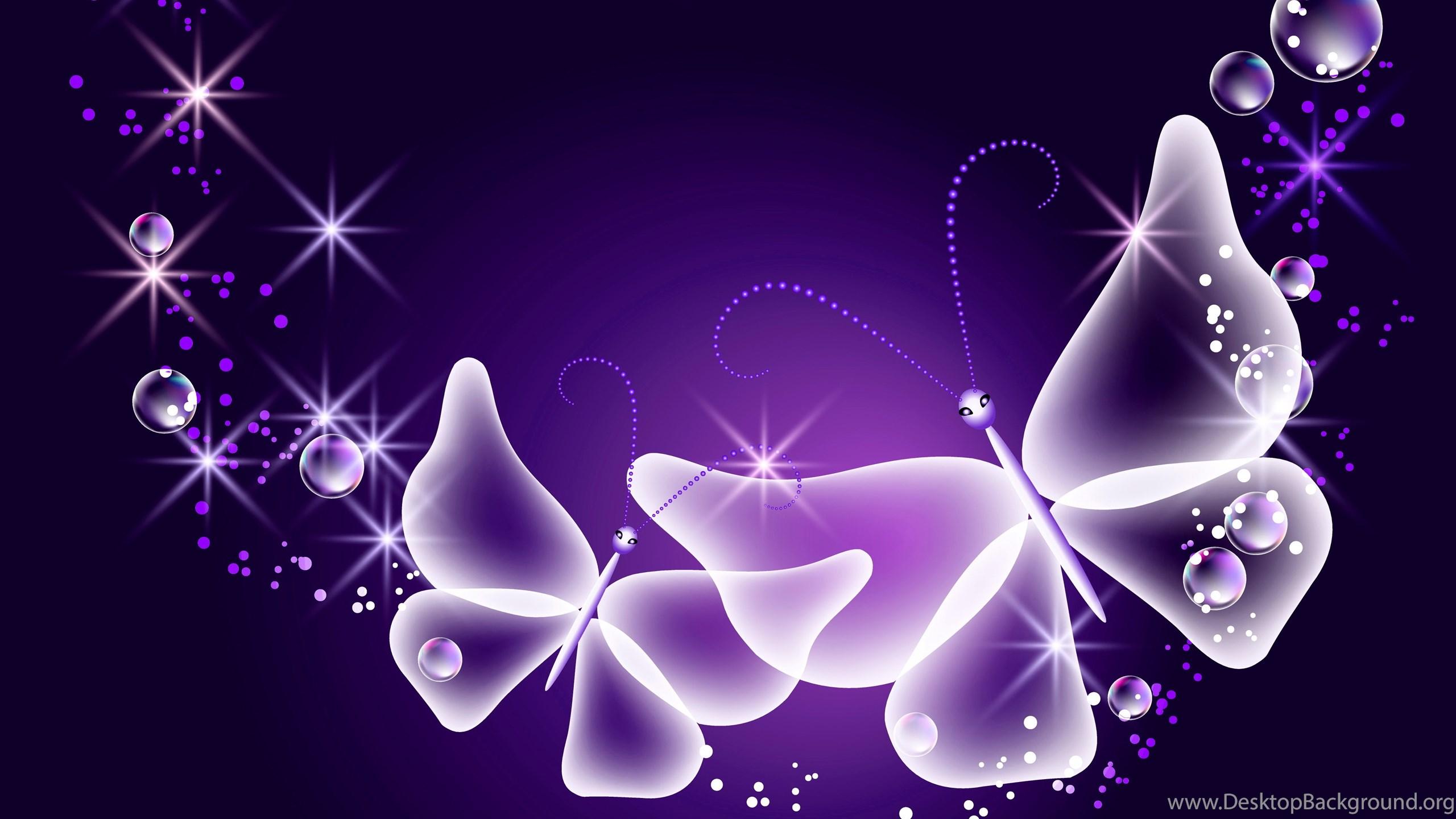 Neon Butterfly Desktop Background: Download Wallpapers Neon, Butterflies, Abstract, Purple