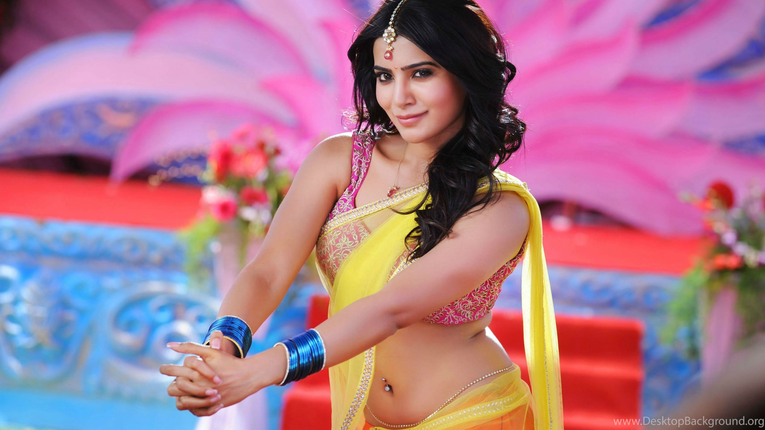 hot samantha ruth in saree hd wallpapers desktop background