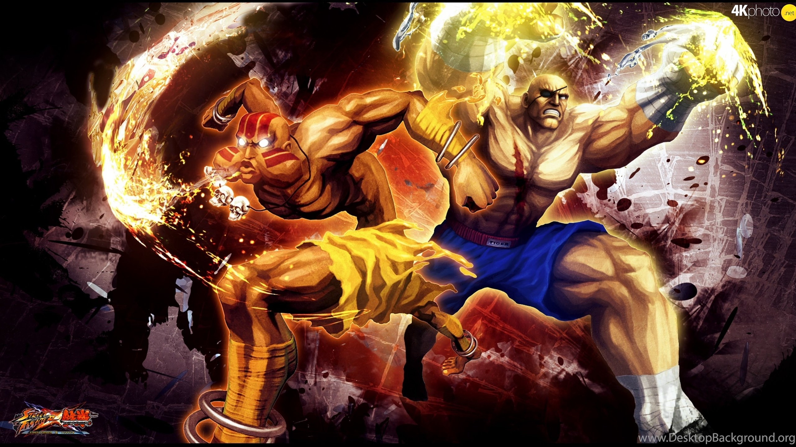 Sagat Street Fighter X Tekken Dalsim Puzzle Jigsaw Wallpapers