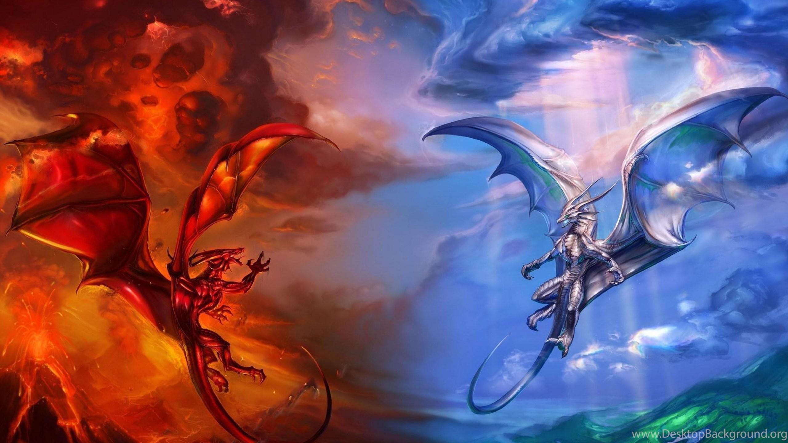 fire vs ice dragon wallpaper,fire hd wallpaper,dragon hd wallpapers
