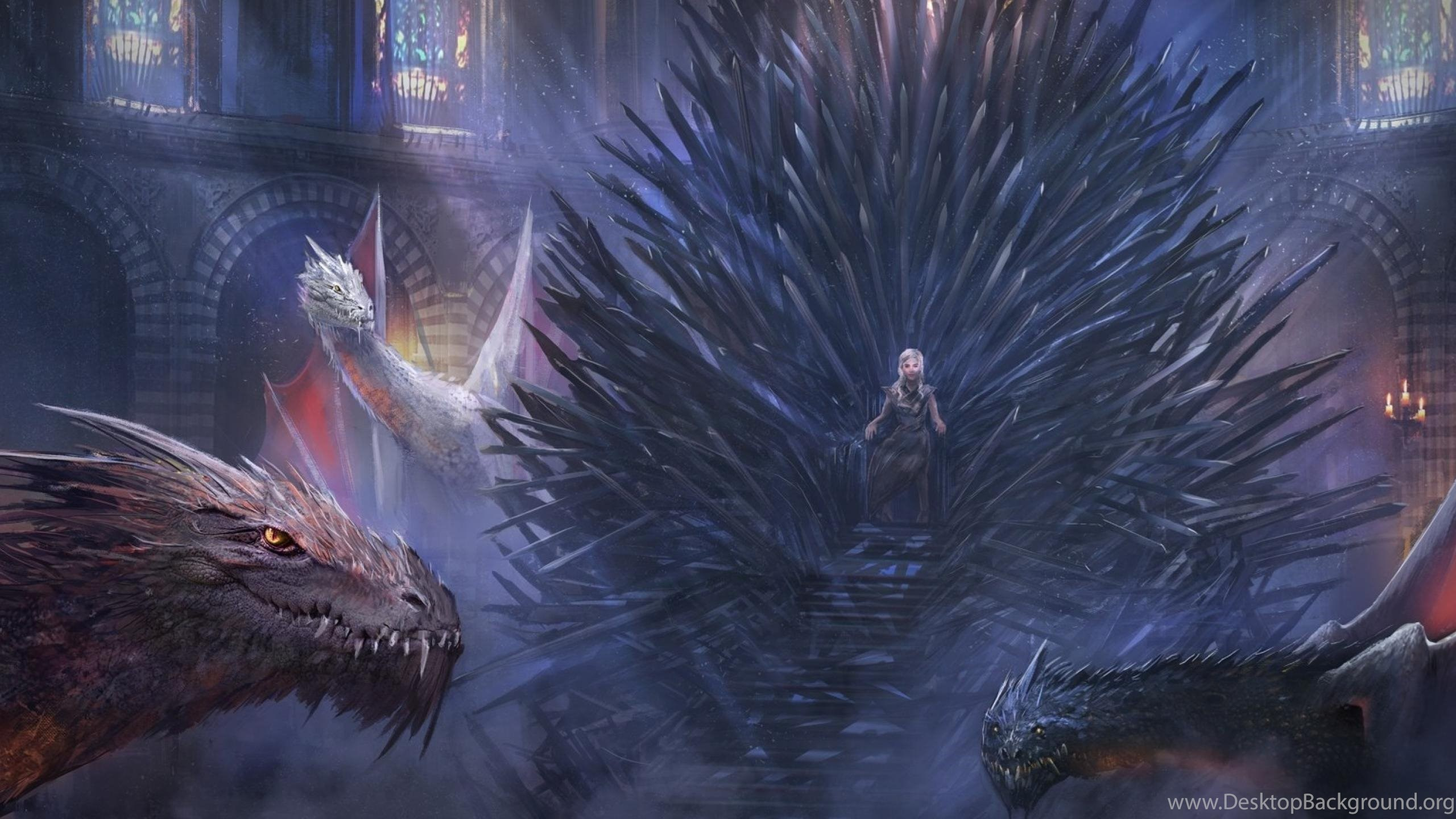 Download Wallpapers Iron Throne And Dragons Game Of Thrones 2560