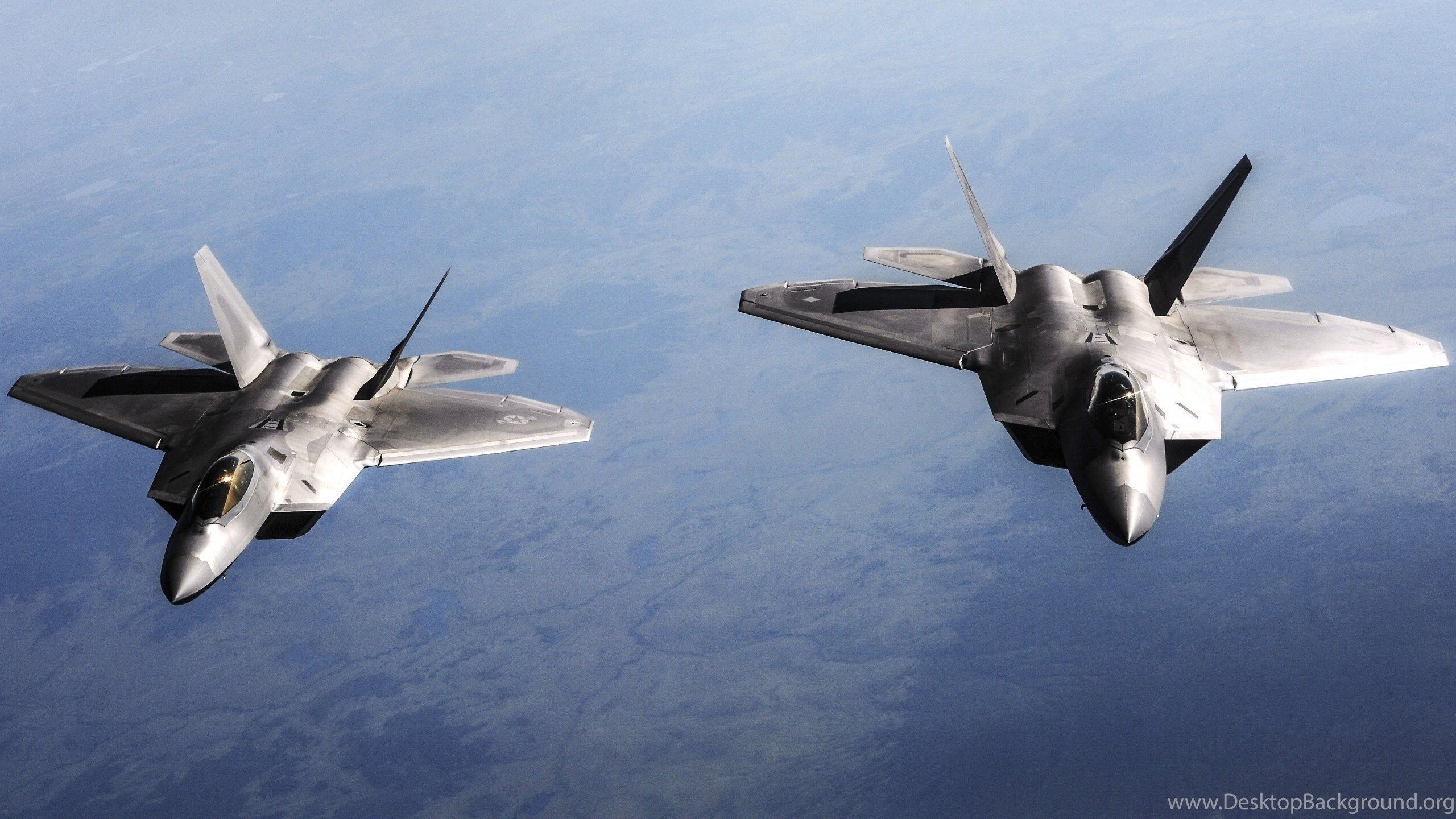Wallpaper Hd Two Aircraft F 22 Raptor Hd Wallpapers Desktop Background