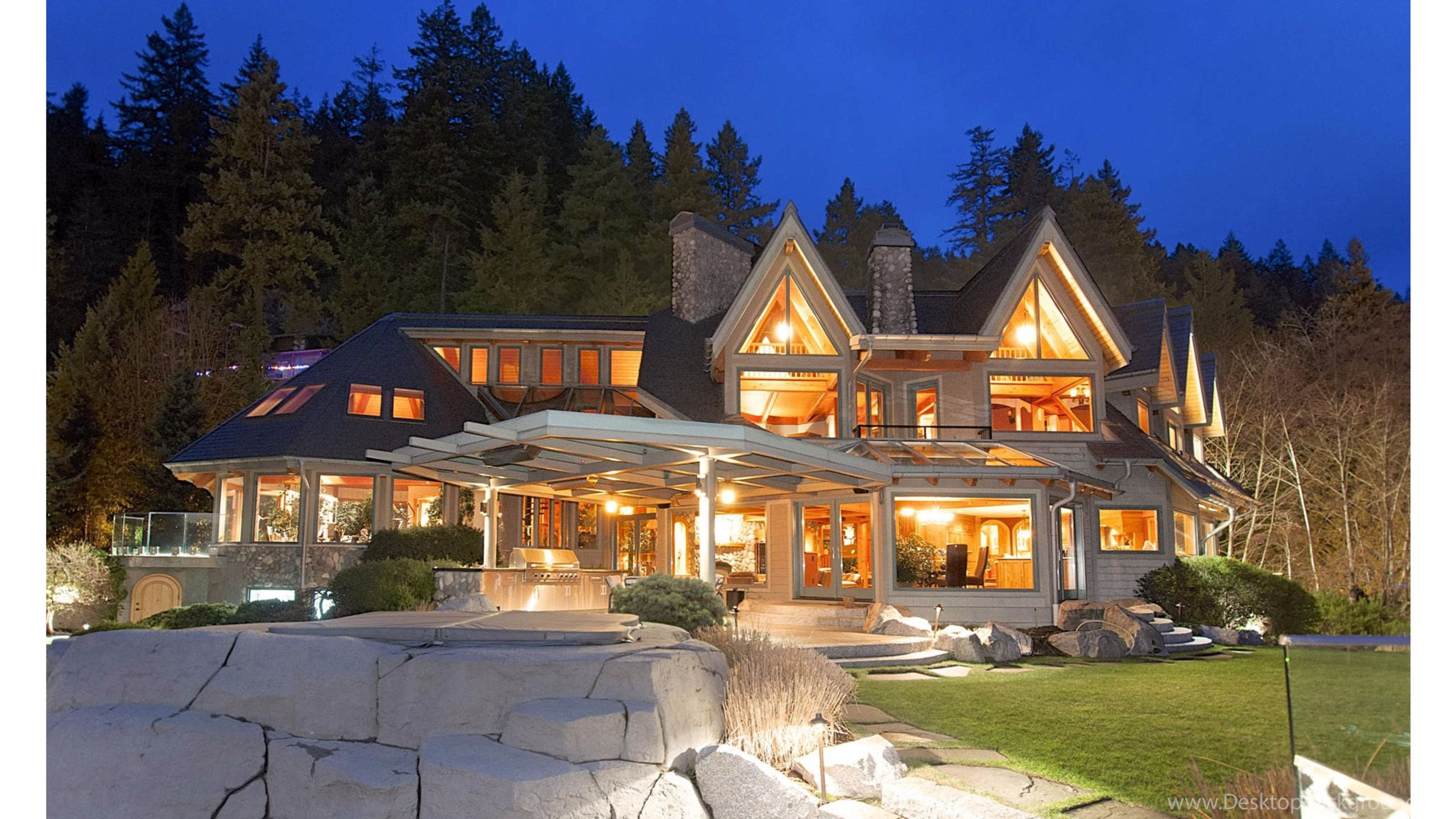 Luxury homes 4k vancouver canada wallpapers desktop background - Luxury house wallpaper ...