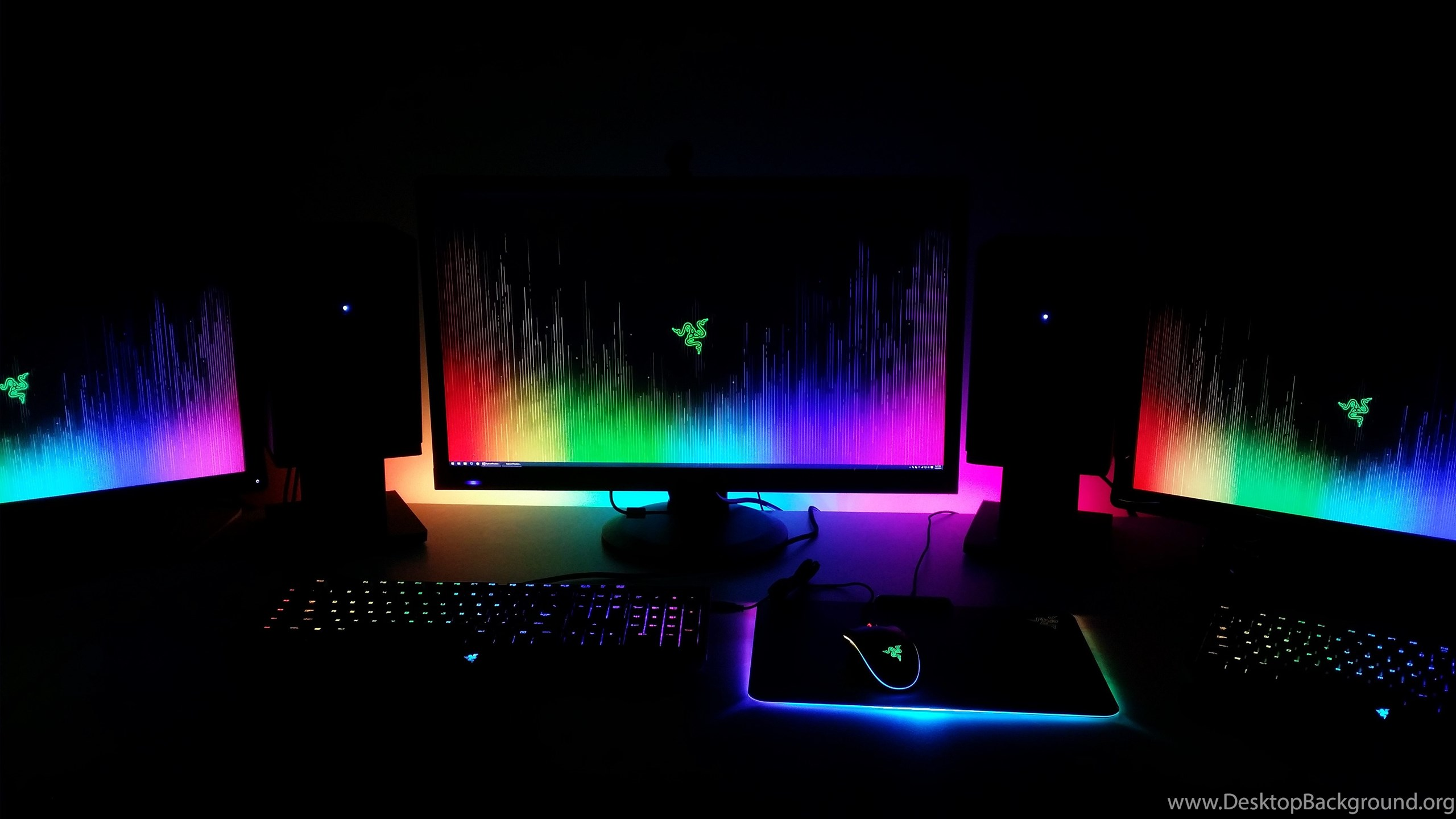 Here S My Chroma Setup To Go Along With The New Wallpaper