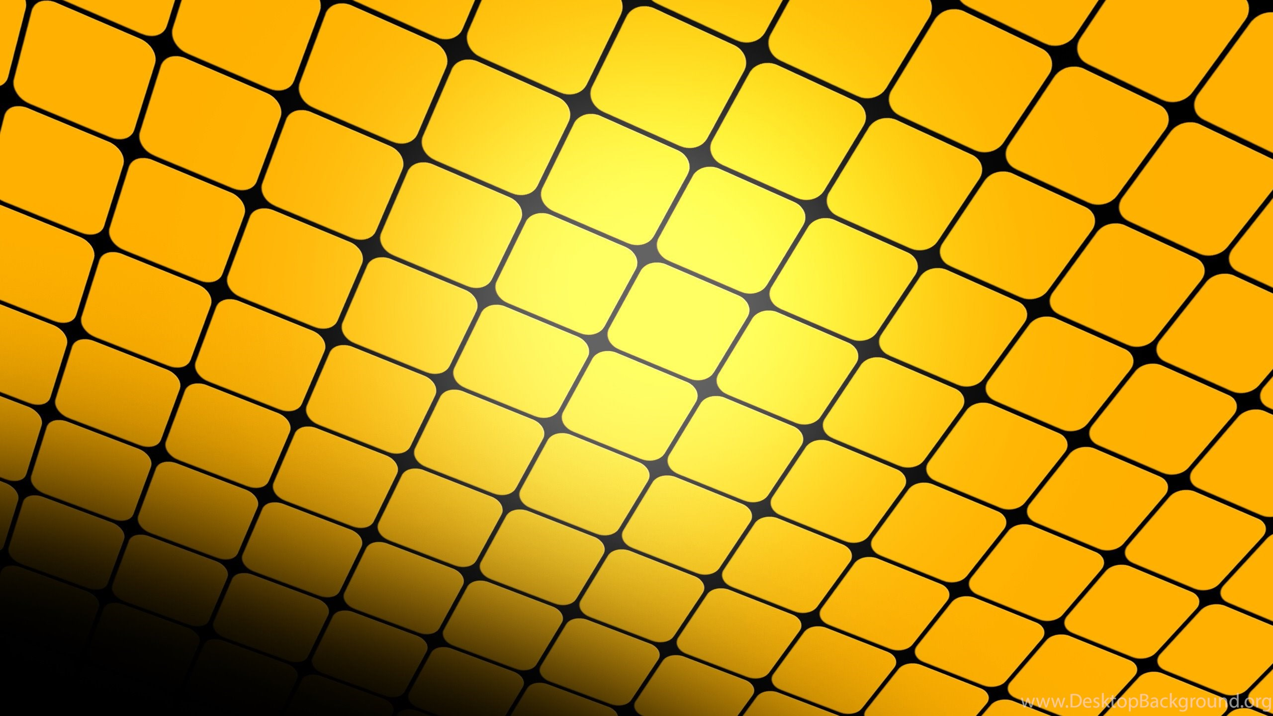 yellow grid in perspective, square, abstract, 2560x1600 hd