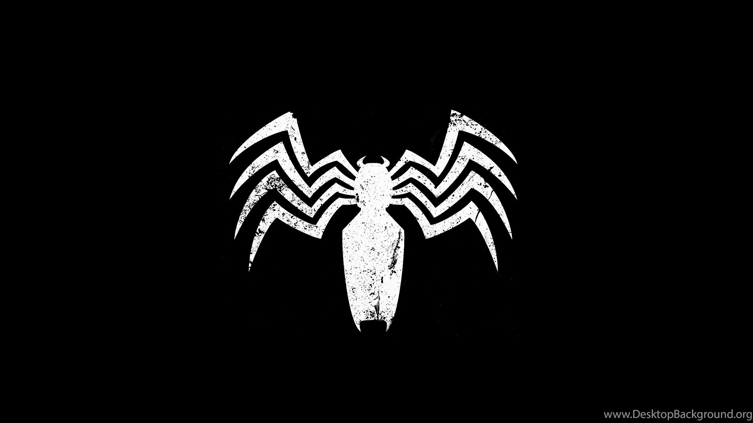 black spiderman logo hd wallpapers desktop background