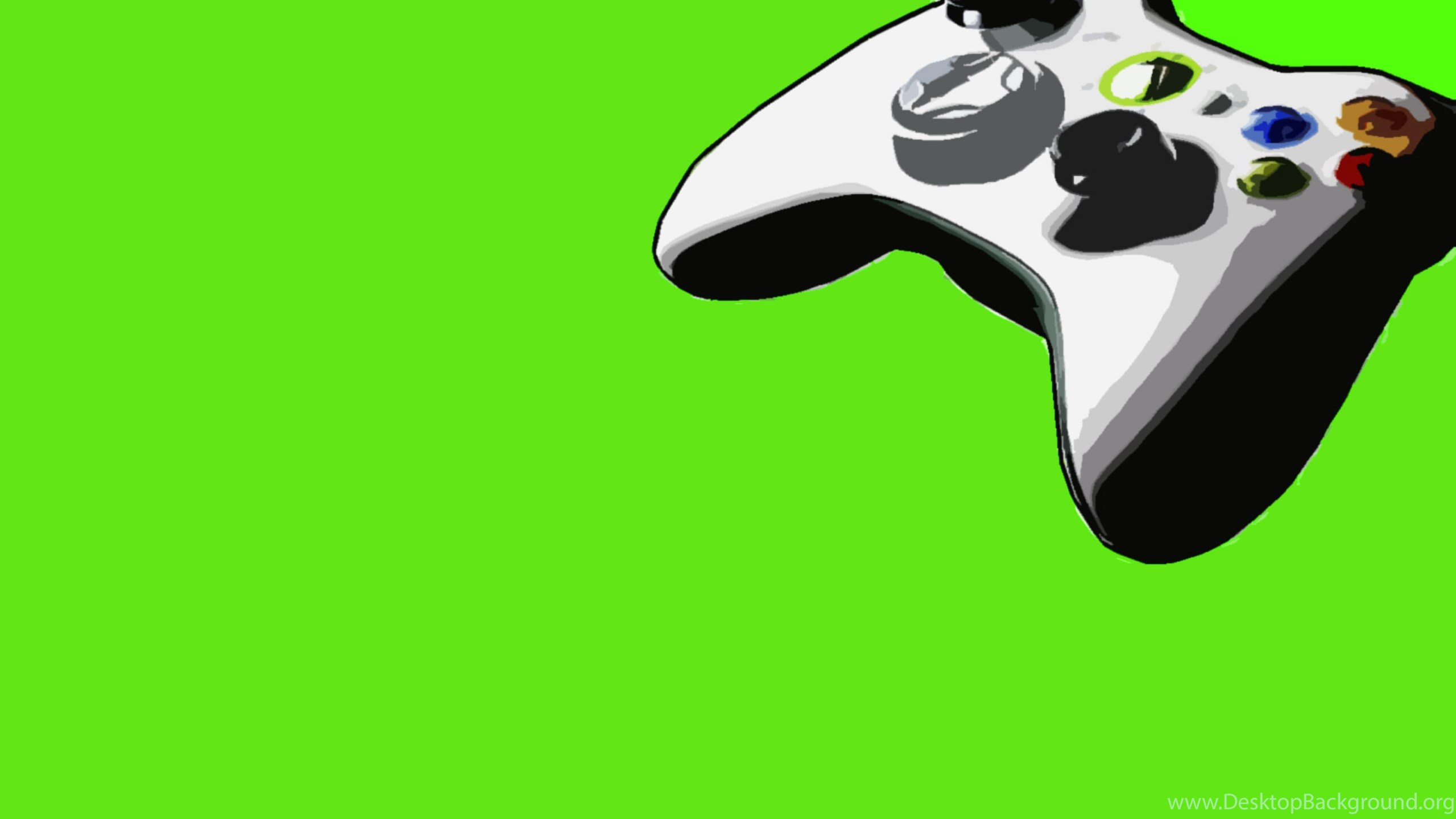 Green Video Games Xbox Controllers 360 Backgrounds Videogames Desktop Background