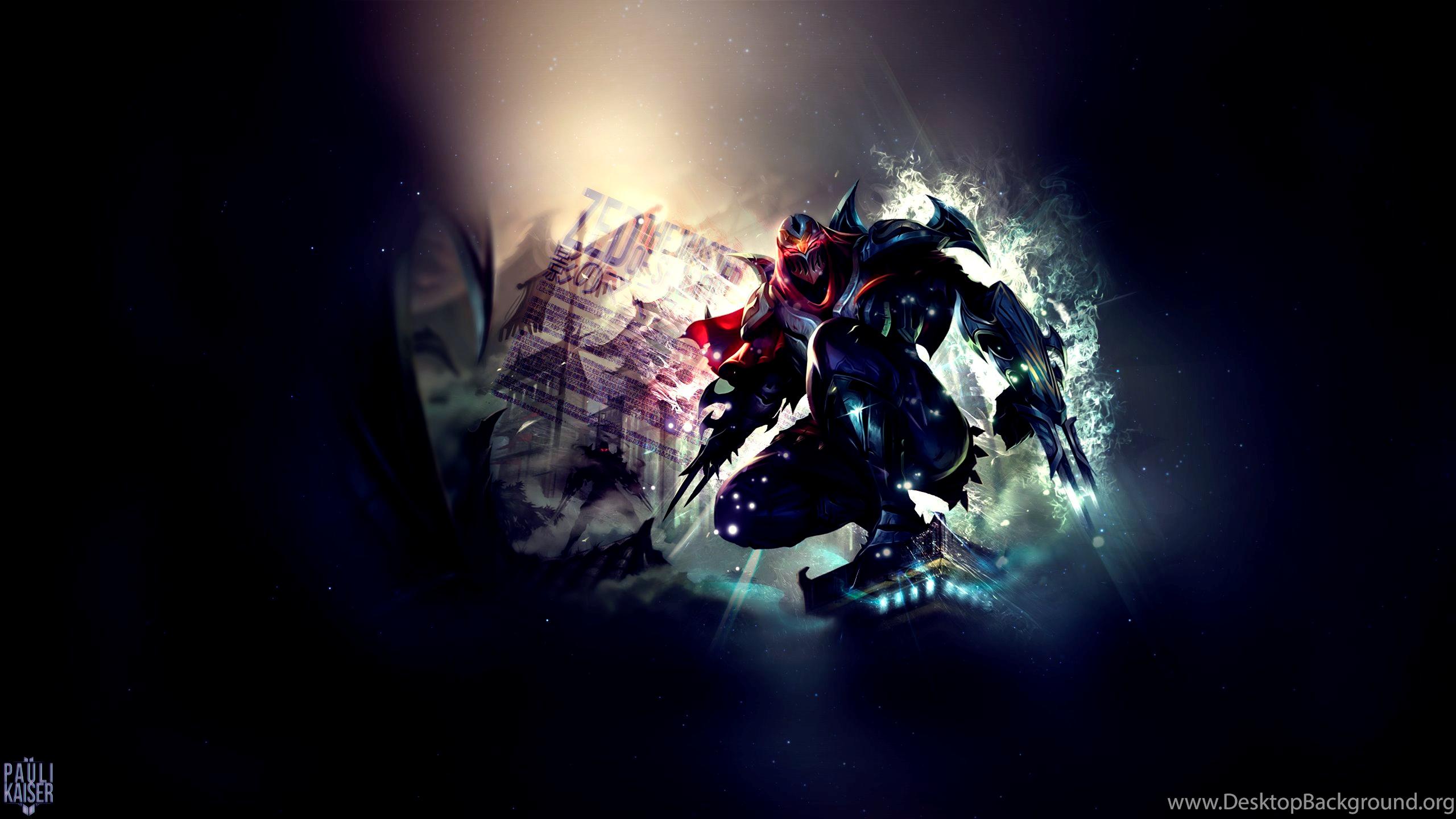 Zed Fan Art League Of Legends Wallpapers Desktop Background
