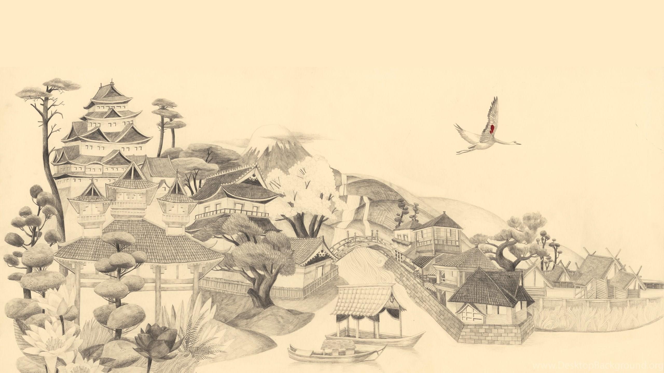 Japanese art wallpapers hd wallpapers desktop background netbook voltagebd Choice Image