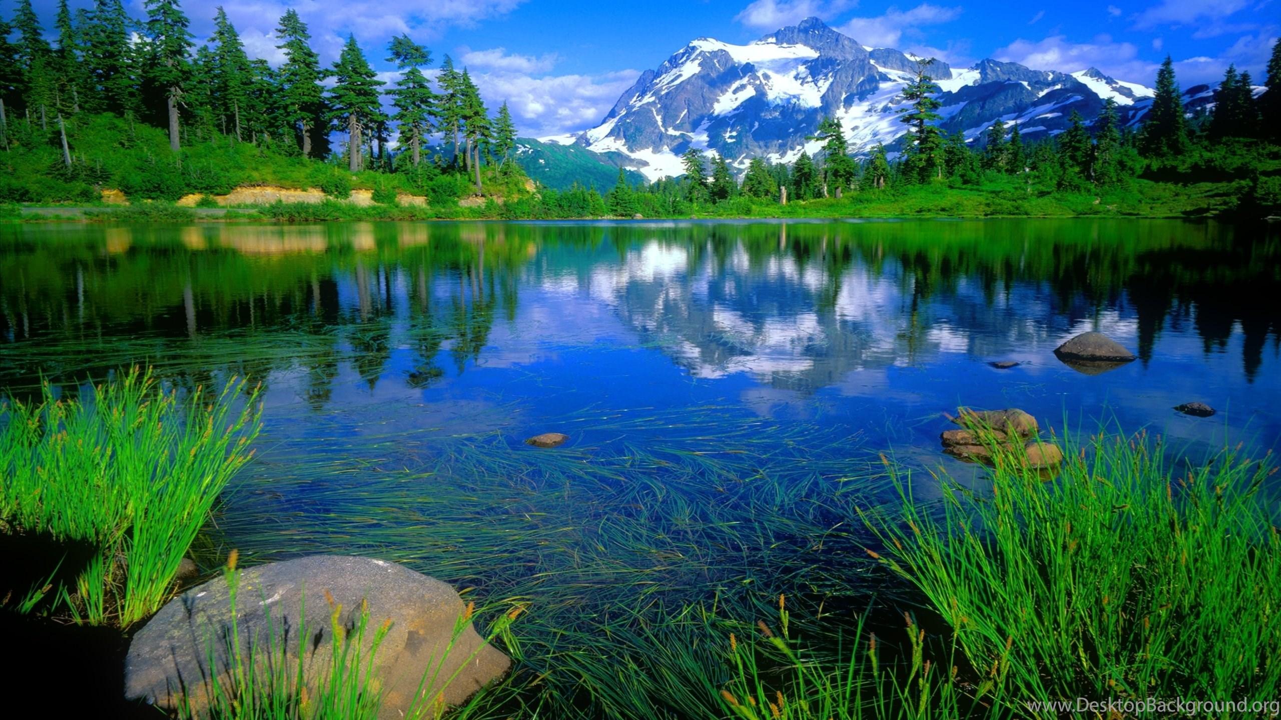 Blue Mountain Lake Wallpapers Desktop Background