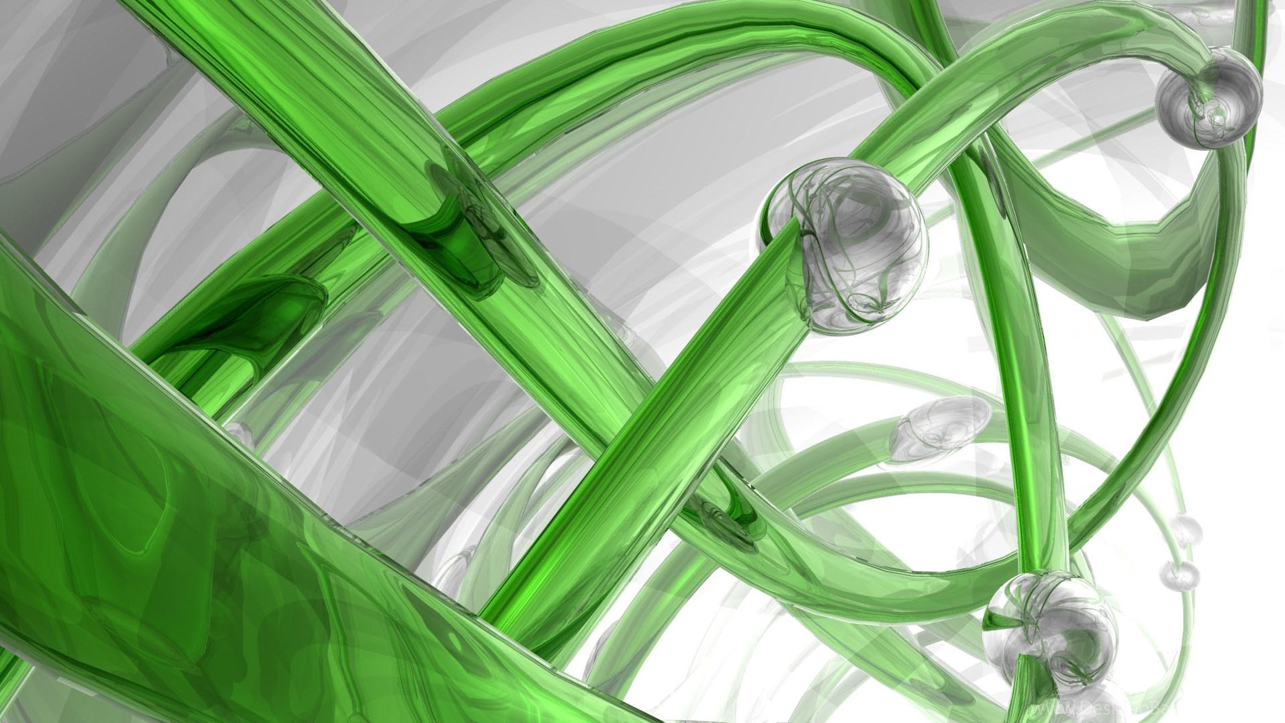 Download Wallpapers 3840x2160 3d, Spiral, Glass, Green ...