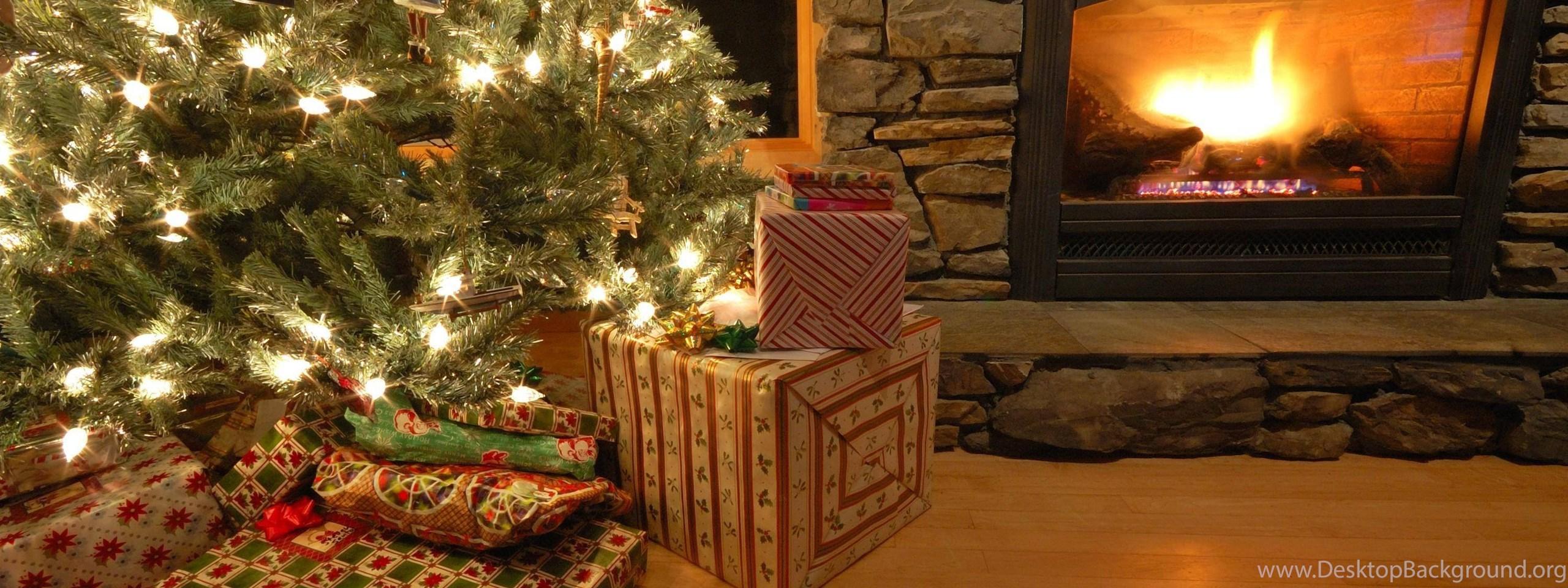 widescreen - Christmas Fireplace Screen