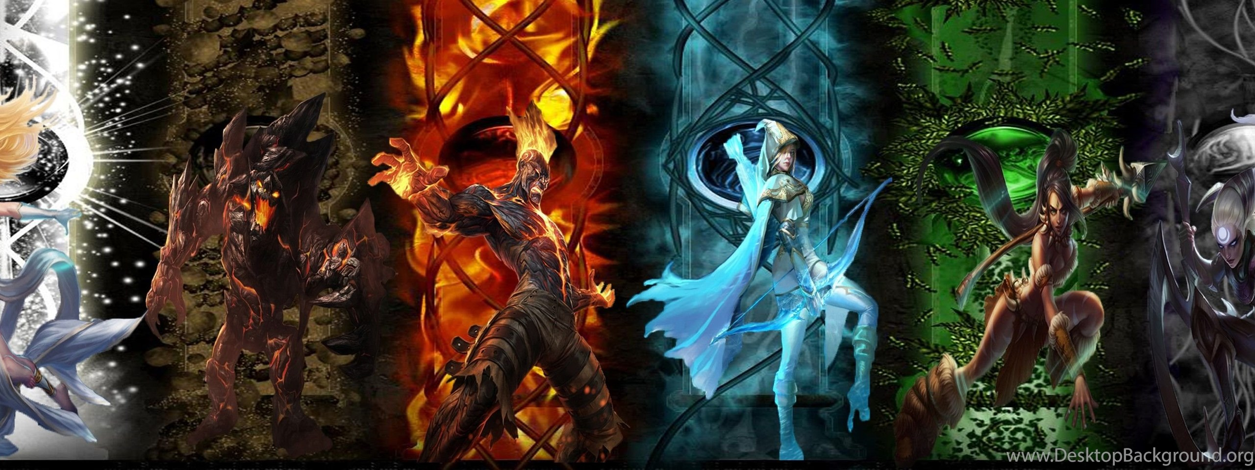 Dual Monitor Wallpaper League Of Legends: League Of Legends Wallpaperleague Of Legends Elemental