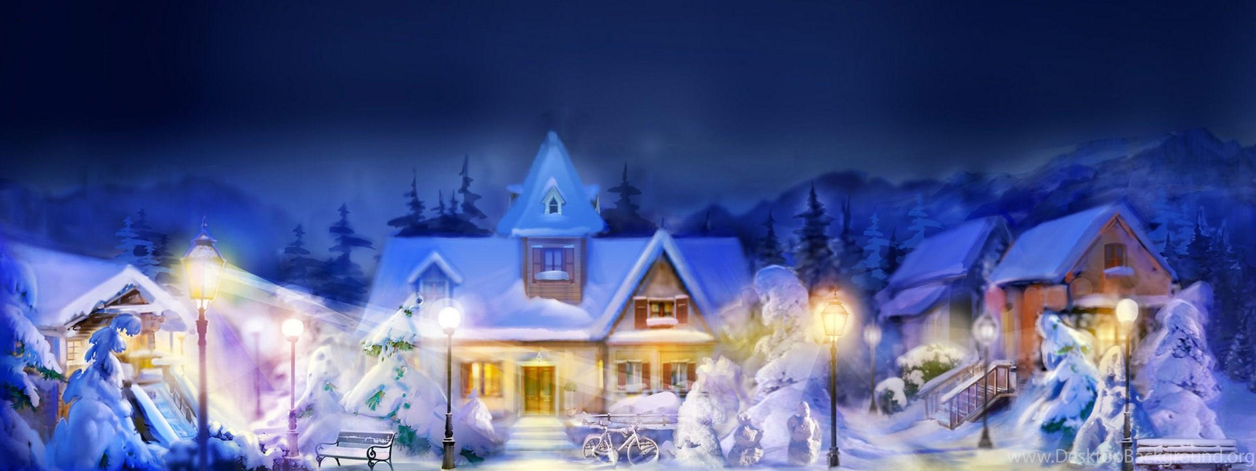 Best Dual Monitor Christmas Hd Wallpapers Desktop Background