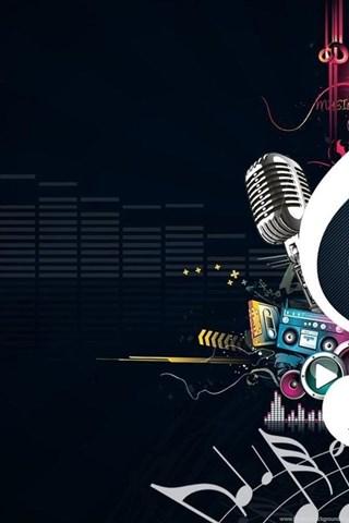 Dark Abstract Music Wallpaper Desktop Background
