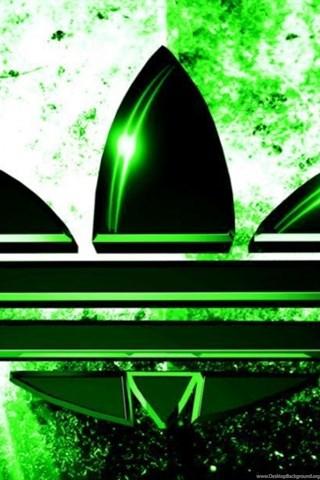 green adidas logo wallpapers hd desktop background