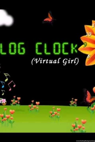 Virtual Girl Live Wallpapers Analog Clock YouTube Desktop Background