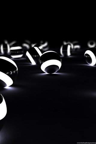 Download Glowing 3d Spheres In The Dark Wallpapers For Samsung Epic Desktop Background
