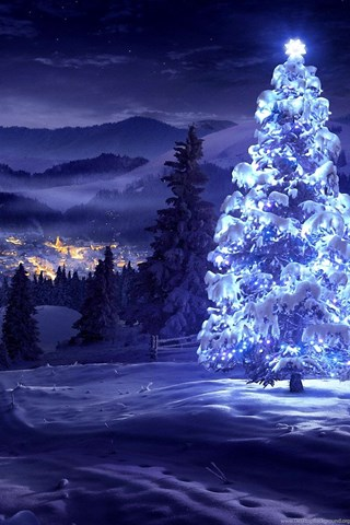 White Christmas Tree Wallpapers Desktop Background