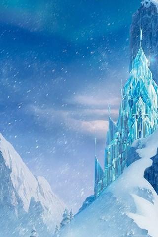 Snow Mountains Disney Frozen Castle Winter Ice