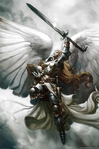 Wallpapers Angel Of Flight Alabaster Serra Magic The Gathering Jpg