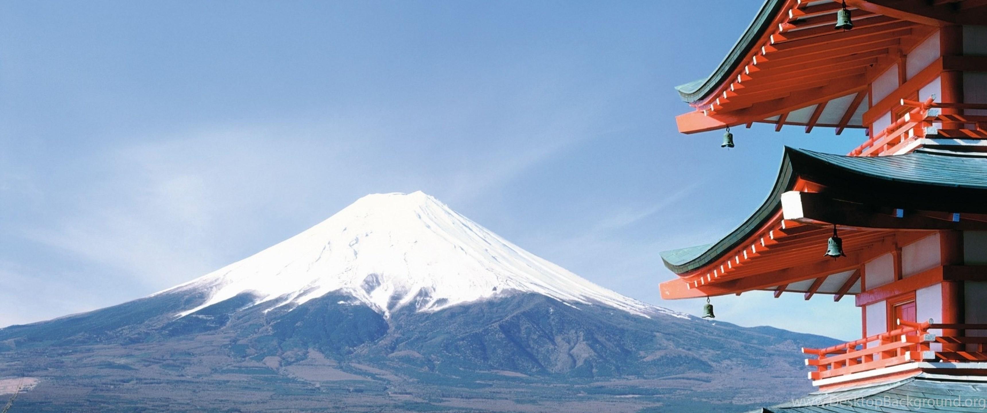 Download Wallpapers 3840x2160 Fuji Japan City Sakura 4k Ultra Hd Desktop Background
