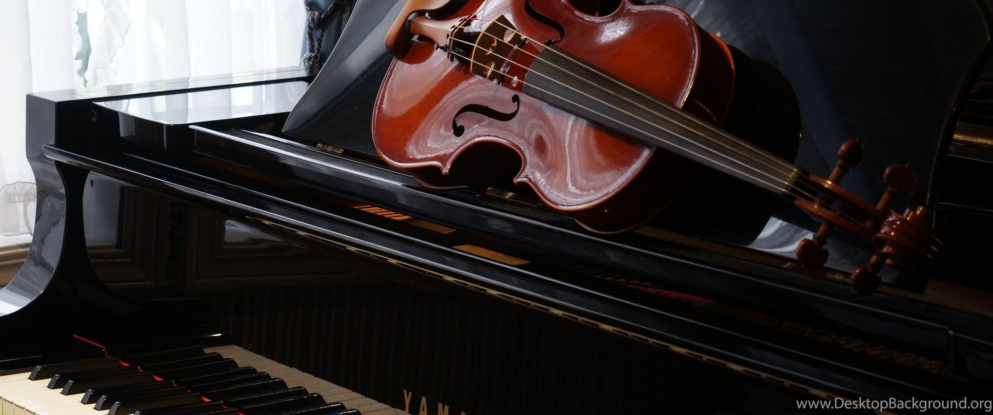 Violin Piano Wallpapers Wallpaper Desktop Background