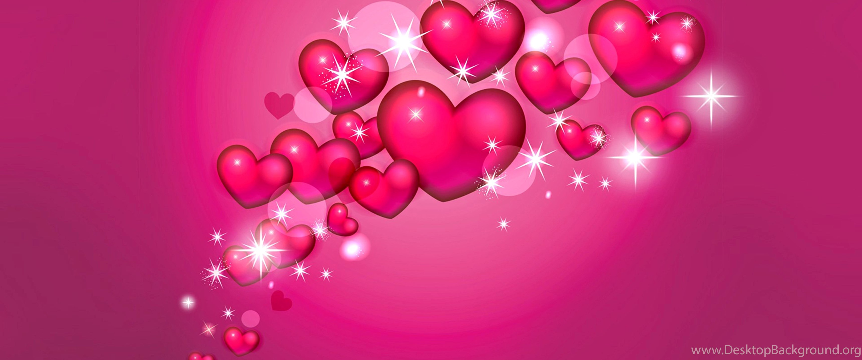 Pink Hearts And Stars Wallpapers Desktop Background