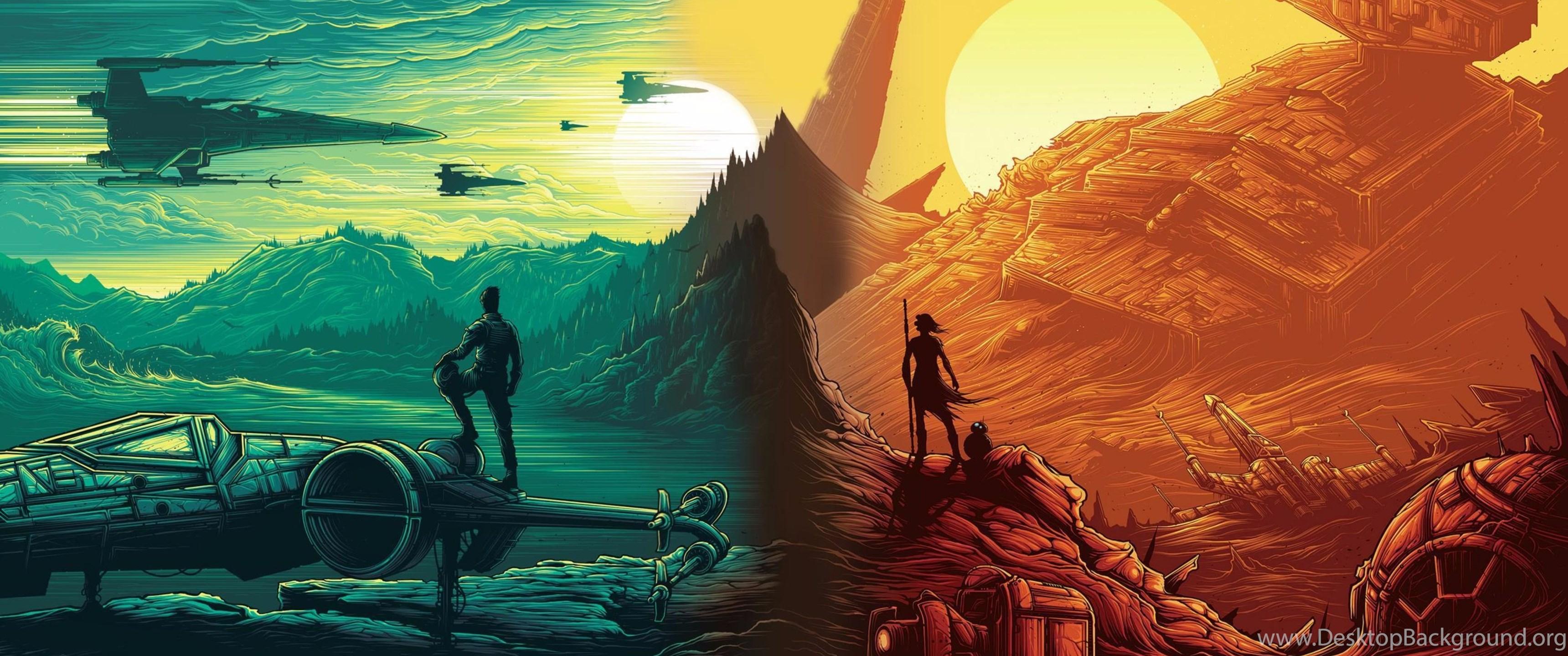 Cartoon Star Wars The Force Awakens 4K Wallpapers Desktop ...