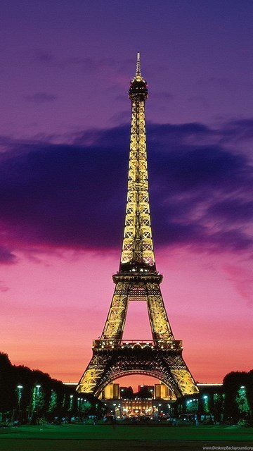 Eiffel Tower Wallpapers At Night Desktop Background