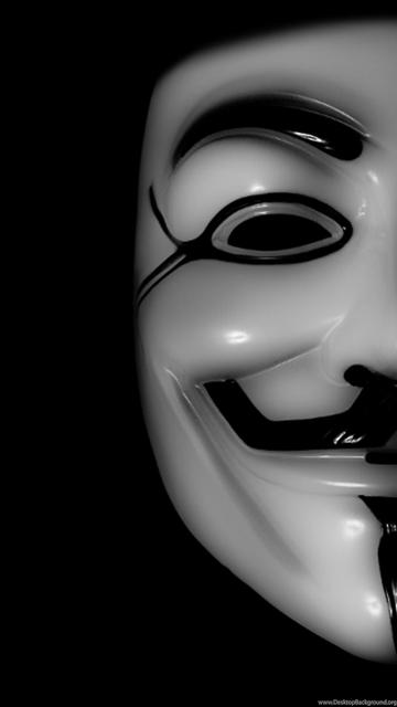 Anonymous Mask Wallpaper Desktop Background