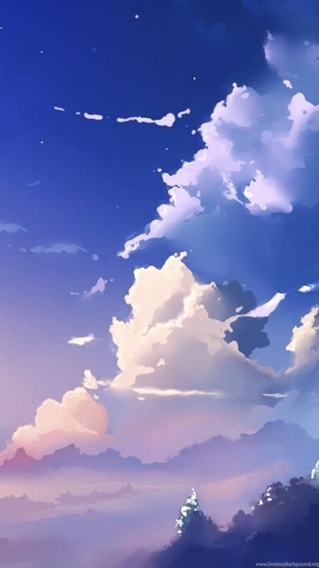Anime Sky Scenery Cloud Scenery 05 Desktop Background