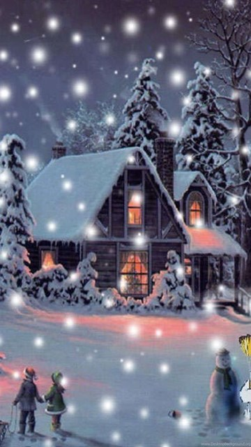 Free animated christmas wallpaper for desktop download ...