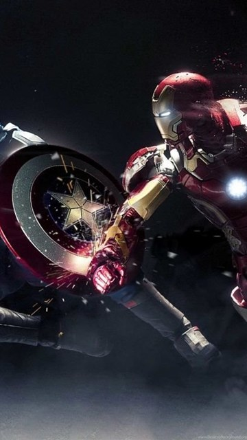 Captain America Vs Iron Man Hd Desktop Wallpapers Widescreen