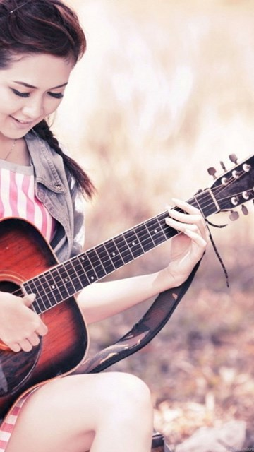 Wallpapers Beautiful Girls Playing Guitar Girl Babies 2560x1440 Desktop Background