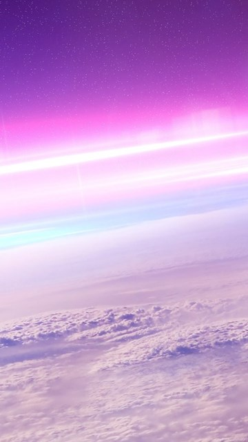 511807 pink sunrise above the fluffy clouds wallpapers space
