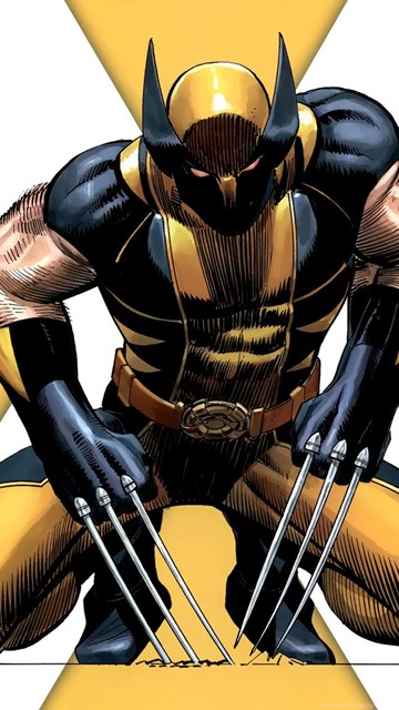X Men Wolverine Yellow Marvel Comics Cartoon Hd Wallpapers