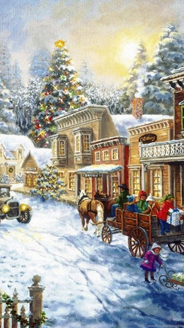 Christmas Village Wallpapers Desktop Background