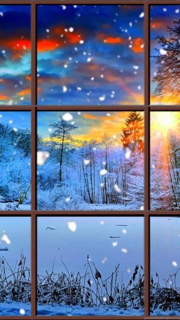 Winter Window Snow Scene In 4k Living Wallpapers With Ambient Desktop Background