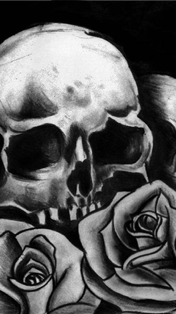 Skulls And Roses Wallpapers Wallpapers HD Base Desktop