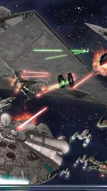 Download Star Wars Space Battle Wallpapers Free WordPress Desktop Background