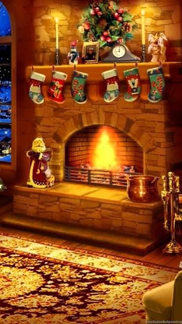Christmas Fireplace Screen