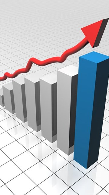 Growth Graph Bar PPT Backgrounds 1024x768 Resolutions, Growth