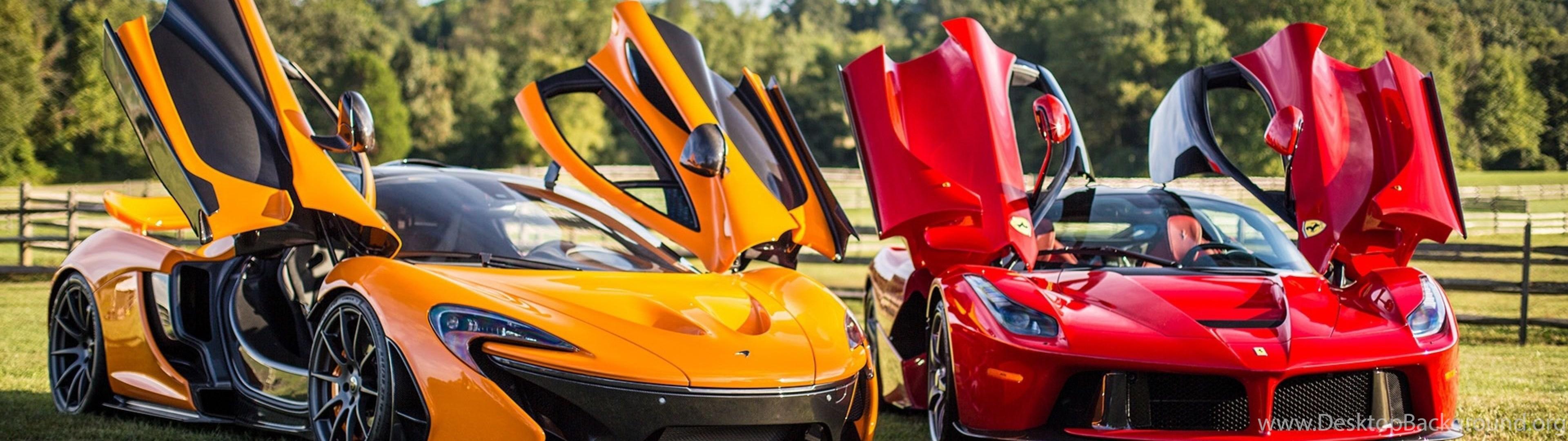 Download Wallpapers 3840x1200 Mclaren, P1, Ferrari ...